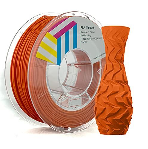 Eolas Prints   Filamento PLA 1.75 250gr   Impresora 3D   Fabricado en España   Apto para uso alimentario y crear juguetes y envases   1,75mm   250gr   Naranja
