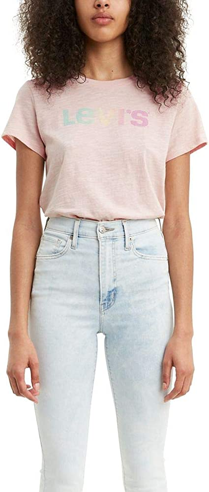 Levi's Free shipping anywhere in the nation Women's Perfect Logo Tee Large special price !! Shirt Plus and Standard