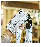 SevenpandaケースiPhone 12 Pro Max キャンバス布花 フローラルバックフレキシブルTPU iPhone ……
