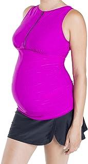 Oceanlily Maternity Tankini for Pregnant Women-Breastfeeding Swimsuit Swim Top