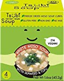 Tsubi Miso Soup FREEZE DRIED, VEGAN INSTANT SOUP, LOW CARB NON-GMO GLUTEN FREE NO MSG, 6 oz Servings...