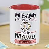 La Mente es Maravillosa - Taza con frase y dibujo divertido (Mi brújula y mi guía, gracias mamá por apoyarme cada día) Regalo original para MAMÁ