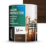 LASUR PROTECTOR AL AGUA MATE Protege, decora y embellece todo tipo de madera. (750 ml, NOGAL)