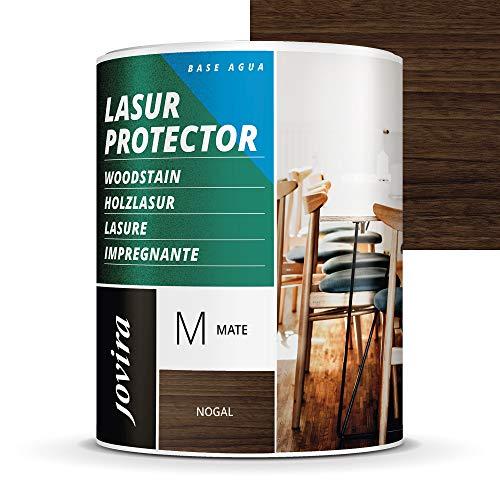 LASUR PROTECTOR AL AGUA MATE Protege, decora y embellece todo tipo de madera. (2,3 L, NOGAL)