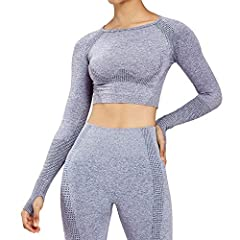 """Fit a little smaller than usual. If you are between sizes we recommend choose the bigger one. Model is 5'7"""" and wears a size S(forest green marl) and M(Charcoal Grey Marl),both size are fit Midriff crop, Raglan sleeves detailed with figure-contouring..."""
