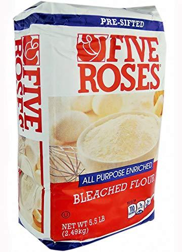 Five Roses All Purpose Enriched Bleached Flour - 5.5 Lb / 2.49 Kg