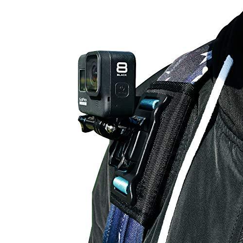 SUREWO Schultergurt-Halterung, kompatibel mit GoPro Hero 9/8/7/(2018)/6/5 Black Hero 5/4 Session/Silber,APEMAN/Crosstour/AKASO/Victure/COOAU/Campark/DJI Osmo Action Kamera