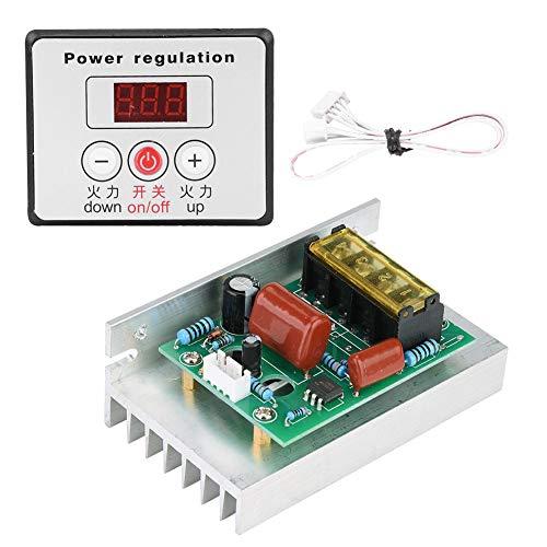 SCR Digital Spannungsregler 6000W Elektromotor Drehzahlregelung Dimmer Thermostat Modul AC 220V