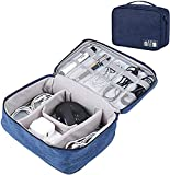AREO (Blue) Travel Electronic Accessories Organizer Bag Case for Cable Charger