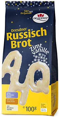 Dr. Quendt Dresdner Russisch Brot Zimt-Vanille, 15er Pack (15 x 100 g)
