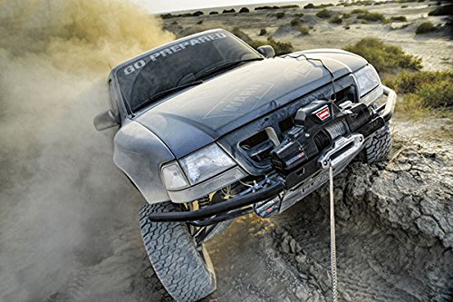 "WARN 89120 ZEON 12 Electric 12V Winch with Steel Cable Wire Rope: 3/8"" Diameter x 80' Length, 6 Ton (12,000 lb) Pulling Capacity"