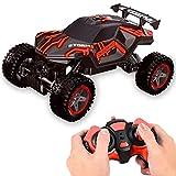 Delaspe Coche teledirigido de 2,4 GHz RC vehículo todoterreno, juguete eléctrico para acrobacias con espray de luz genial para regalos infantiles
