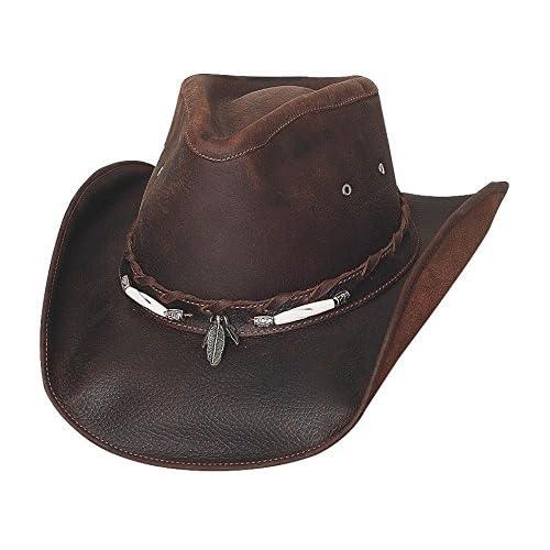 Bullhide Men s Briscoe Leather Cowboy Hat - 4052Ch 9f097d16105