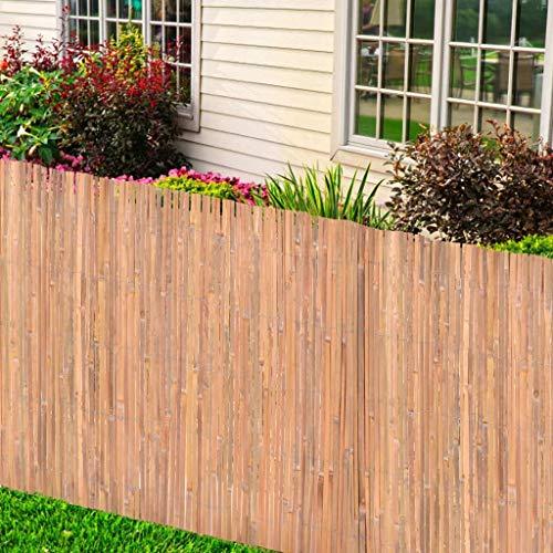 Festnight Bambuszaun 125 x 400 cm Sichtschutz Zaun für Garten