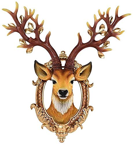 Suge Simulación Cabeza de los Ciervos decoración Colgante Bar Sala de Estar colgados de la Pared de Fondo de Pared for TV Creativa Lucky Pared Colgante