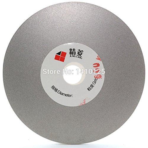 Maslin Disco de pulido de diamante fino de 4 pulgadas grano 600, disco plano recubierto de disco de regazo para afilar cuchillas de diamante