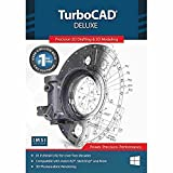 TurboCAD Deluxe 2020 - 2D Design and 3D Modeling CAD Software DVD for Windows