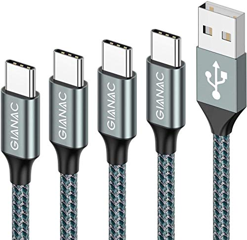 Cable USB Tipo C, [4Pack,0.5M 1M 2M 3M] 3A Cargador USB Tipo C de Nylon Trenzado Carga Rápida y Sincronización de Datos para Samsung Galaxy S10 S9 S8, Huawei P30 P20 P10 Mate10