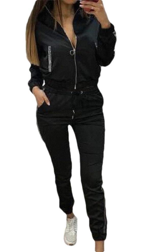 遊び場ゲートウェイ東ティモールレディース 2 ピース スポーツ セット ジャンプスーツ 衣装 ストライプ カジュアル ロング パンツ スウェットスーツ トラックスーツ