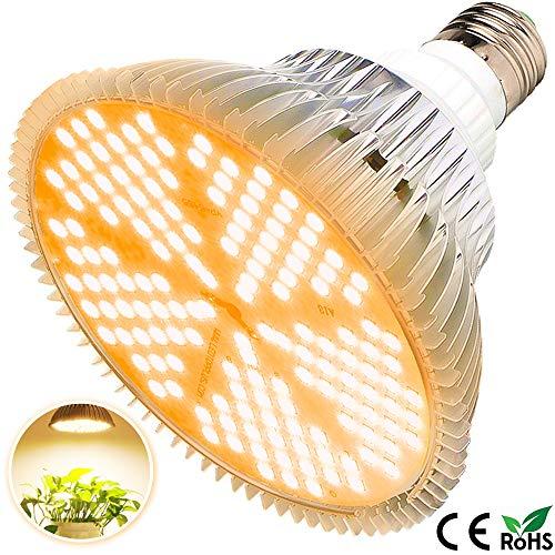 100W Led Grow Light Bulb, Sunlike Full Spectrum Grow Lights for Indoor Plants, E26 150 LEDs Plant Light Bulb for Hydroponics Indoor Garden Greenhouse Houseplants Vegetable Tobacco (150LEDs-Sunlike)