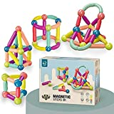 Jojofar Magnetic Toys | 42PCS, Magnet Toy Blocks, Magnetic Balls and Rods Set - Featuring Safe, Extra-Strong, Preschool Educational, STEM Stacking Toys for Boys & Girls 3+