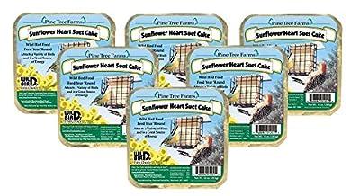 Pine Tree Farms Sunflower Heart Suet Cake Wild Bird Food 1201 12 oz.