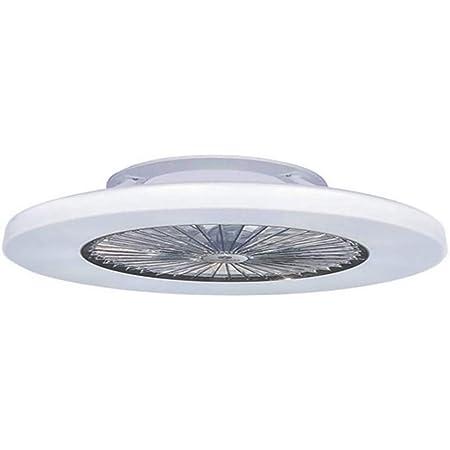 H.W.S Ventilateur De Plafond LED Lampe Cach/é en Cristal Blanc Contemporain 36W Dimmable avec T/él/écommande pour La Chambre Salon Nurserie Silencieux D/éclairage