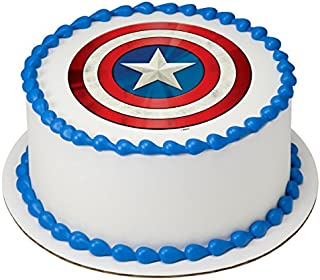 Avengers Captain America Edible Cake Topper or Cupcake Topper Decorations (8
