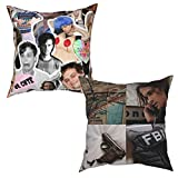 Yuanmeiju Throw Pillow Cases 2 Pieces Mat-Thew Gr-Ay Gub-Ler Cushion Cover Sofa Decor Pillowcases 18'X18'