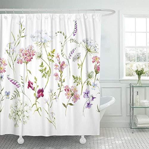 Brandless Girlish Floral Polka Dot Shabby Chic Stil Muster mit rosa Rosen Zarte Hochzeit Duschvorhänge Wasserdichter Polyester Stoff-180x220cm