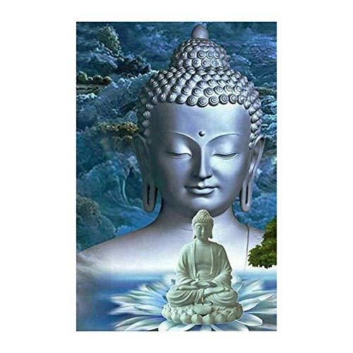 DIY Boeddha Diamond Schilderij Set, Doe-Het-Ronde Diamond Embroidery Crystal Rhinestone Borduurwerk Schilderij Diamond Decoratie Voor Decor Van De Huismuur