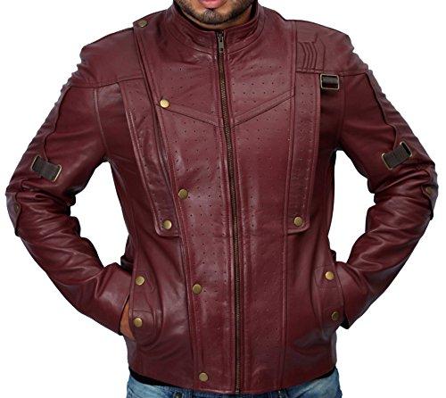 Lederjacke von Star-Lord (Chris Pratt) aus Guardians of the Galaxy, Duffle, rot