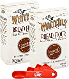 White Lily Bread Flour 5 lb Bag (Pack of 2) By The Cup Swivel Spoons