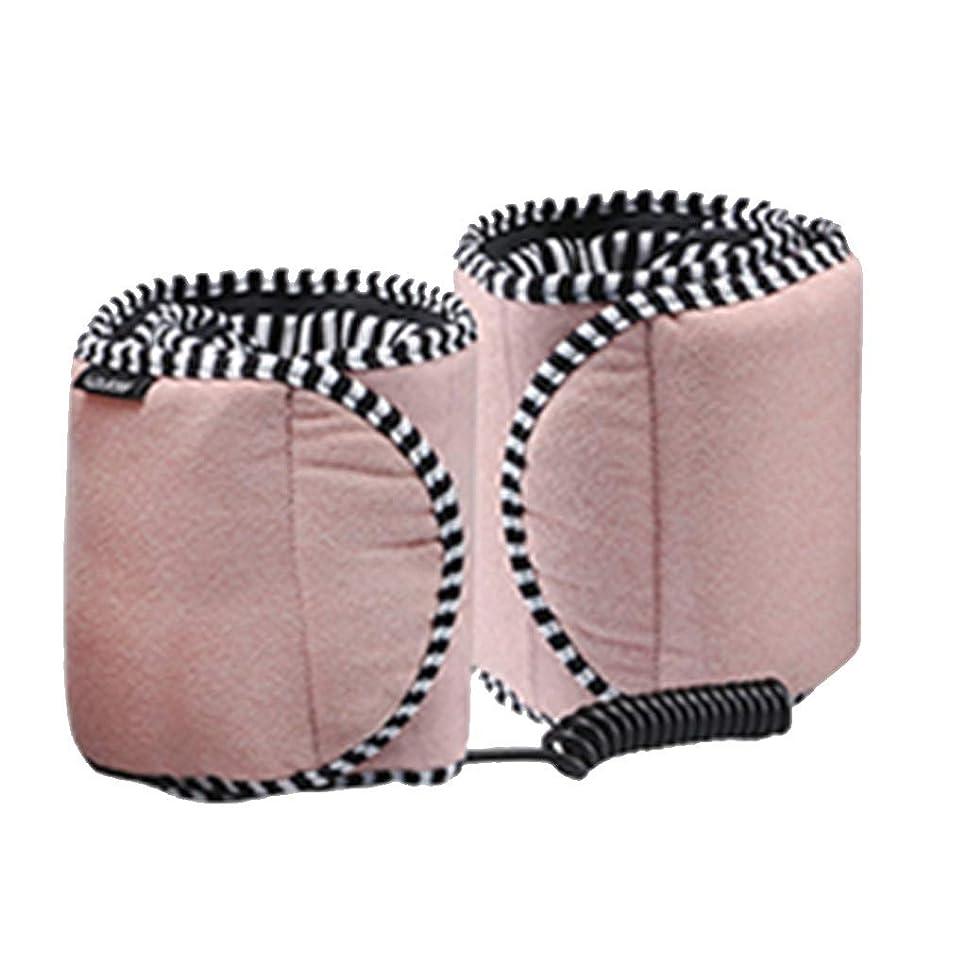 ピッチ時間流体YCDJCS 下肢静脈瘤ふくらはぎの痛みの救済のための美脚腕足用カーフアームフット循環のためのフットマッサージレッグラップマッサージ美脚振動温湿布 (Color : Pink, Size : One size)