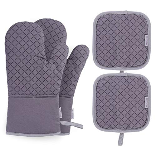 AYUYU Oven Gloves and Heat-Resistant Potholders to Protect The Oven Gloves Kitchen is The Best Choice for Small Commodity Gatherings and New Year (Color : Gray)