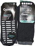 Qano 2er Pack Herren Socken mit ABS-Sohle schwarz (43/46)