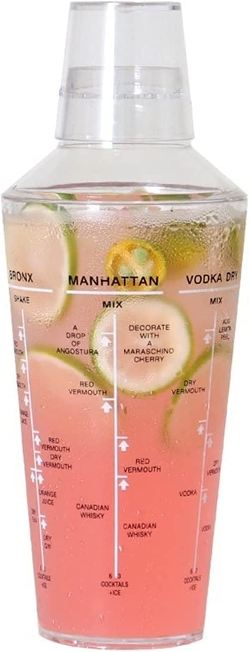 mart WxberG Cocktail Shaker 23.7oz Clear Mixer Tea Ice Max 59% OFF Plastic Drink