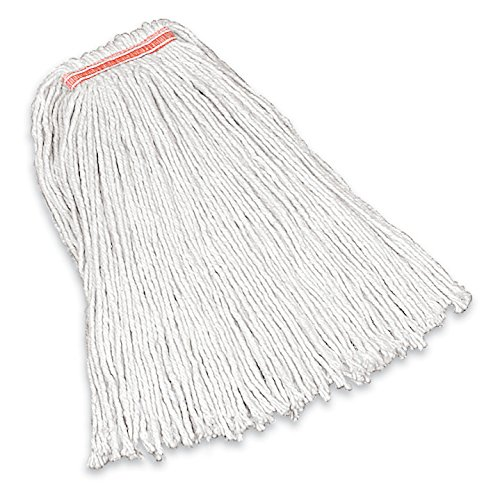 "Rubbermaid Commercial Products FGF11600WH00 Premium Cut-End Cotton Mop, 16 oz, 1"" Headband (Pack of 12)"