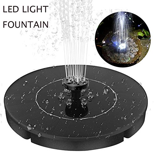SO Solar Springbrunnen, Solarpumpe Mit LED-Licht Draussen Solar Wasserpumpe Gartenteich Oder Springbrunnen Solar Teichpumpe