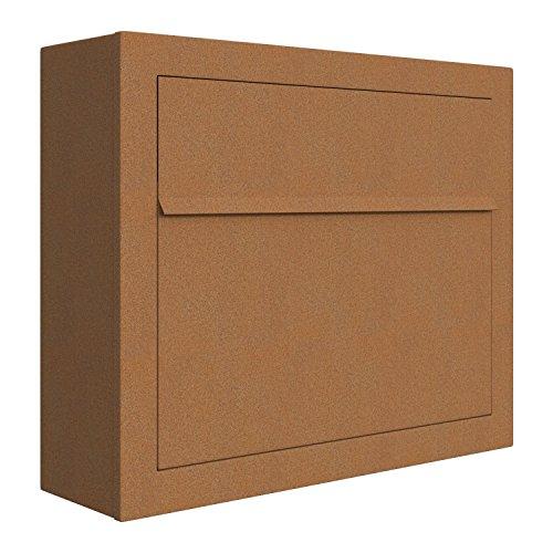 Briefkasten, Design Wandbriefkasten Elegance Rost - Bravios