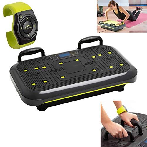 Vibrationsplatte Slim mit Handgelenk Fernbedienung Vibrationsboard mit Farbdisplay und Trainings-DVD