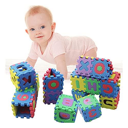LNSGA 36 unids enlish número Letra Puzzle Mat Alphanumérico Espuma 3D Puzzle Soft Baby Crawling Espuma Alfombra Educación Early Herramienta de Entrenamiento