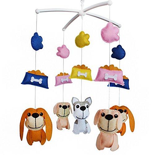 Décoration de pépinière de cadeau de jouet mobile de lit de bébé fait main pour 0-2 ans, MQ42