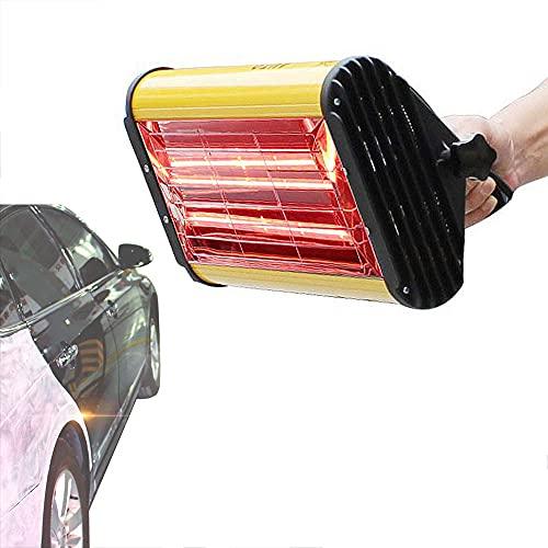 QJJML Lámpara de curado infrarroja para automóvil Calentador de horneado de Onda Corta de Mano, Secador de Pintura para automóvil de 1100 W para reparación de carrocerías automotrices