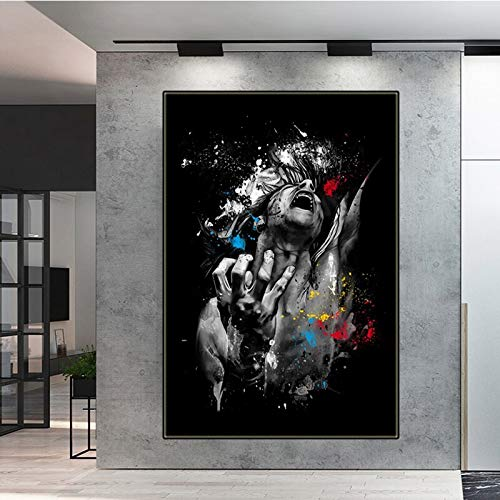 Pintura abstracta en lienzo, carteles de pintura escandinava en blanco y negro, póster artístico e impresiones, decoraciones de pared para sala de estar 40x50cm