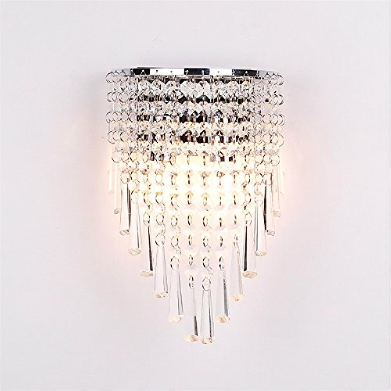 StiefelU LED Wandleuchte nach oben und unten Wandleuchten Crystal Light Wandleuchte lampe Schlafzimmer Wohnzimmer Wand über Flur Gang silber Hhe 28 cm Breite 18 cm