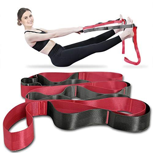 Onory Yoga Strap Stretch Straps for Physical Therapy with Exercise Booklet & Carry Bag...