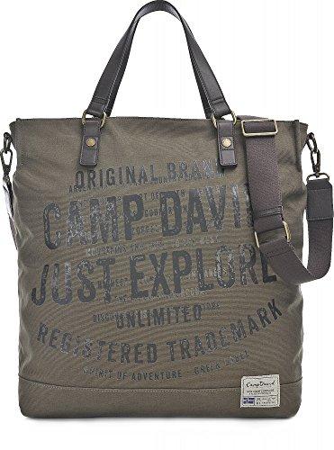 Camp David, Unisex Handtaschen, Shopper, Umhängetaschen, Khaki, 48 x 40 x 15 cm (B x H x T)