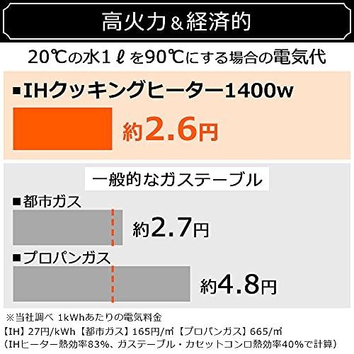 【セット買い】アイリスオーヤマ 2口 IHクッキングヒーター 工事不要 1400W 100V ブラック IHK-W12P-B & 2口IHクッキングヒーター用スタンド ブラック SSIH-54 セット