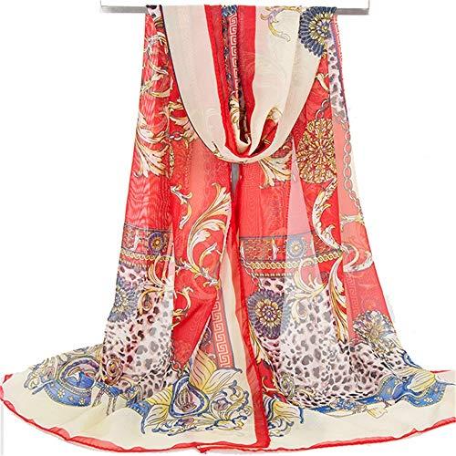 Dhmm123 Schal Damen Schal eingewickelt Chiffon Sonnenschirm Strand Sommer Sonnencreme Schal Schal Mode-Accessoires (Color : K5, Size : 60 * 150cm)
